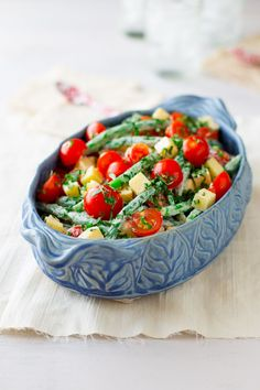 Green Bean Cherry Tomato and Cheddar Salad!