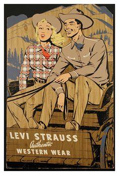 Levis#Levis vintage ad, courtesy of Barberline.fr