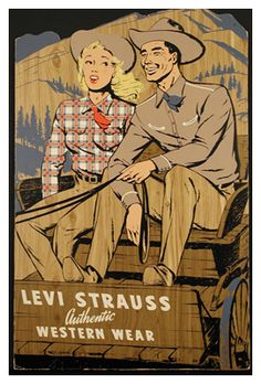 Levis#Levis vintage ad, courtesy of Barberline.fr