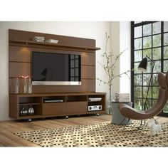Manhattan fort Cabrini TV Stand and Floating Wall TV Panel with