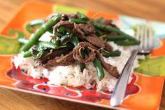 Barefeet In The Kitchen: Thai Steak and Green Bean Stir Fry Stir Fry Recipes, Entree Recipes, Asian Recipes, Paleo Recipes, Whole Food Recipes, Thai Recipes, Recipes Dinner, Delicious Recipes, Cooking Recipes
