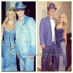 Sexy Britney Spears and Justin Timberlake Couples Costume... Coolest Halloween Costume Contest