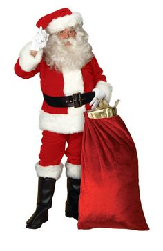 Imperial Regency Plush Deluxe Santa Suit, Standard Size - Santa Claus is the jolly old elf who delivers toys and joy on Christmas Eve. Make this Christmas a special one with the Imperial Plush Santa Claus costume. It comes with jacket, pants, hat, belt and boot tops. Finish him off with wig and beard and other fun accessories. #yyc #Calgary #costume #Santa #SantaIsComingToTown