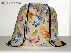 Podrobný foto návod na šití vaku s podšívkou Drawstring Backpack, Diy Bags, Backpacks, Blog, Fashion, Fabric Purses, Moda, Fashion Styles, Backpack