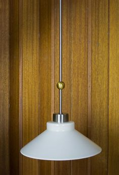 Mid Century Modern Fredrick Ramond Glass Pendant Light by OffCenterModern on Etsy