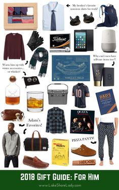Sharing the best Gift Guide for Men! This covers a lot of different guys in your life, from Dads to brothers to significant others. 2018 Gift Guide for Men - Lake Shore Lady Thoughtful Gifts For Him, Romantic Gifts For Him, Best Gifts For Him, Unique Gifts For Men, Best Friend Gifts, Creative Gifts, Gift Guide For Men, Holiday Gift Guide, Gift For Men