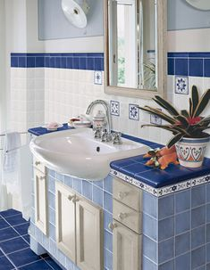 Striped Accent Walls, Outdoor Sinks, Victorian Bathroom, Bathroom Styling, Ceiling Design, Bathroom Inspiration, Small Bathroom, Home Kitchens, Small Spaces