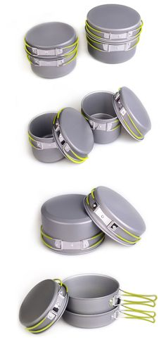 Pot Set Camping Cooker, Pots And Pans Sets, Pan Set, Outdoor Camping, Accessories, Outdoor Living, Camping, Jewelry Accessories