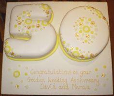 50th Golden Wedding Anniversary Cake S