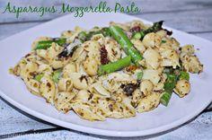 Asparagus and Mozzarella Pesto Pasta