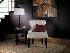 Curves Hour Glass Chair in Oyster Fabric Avenue Six