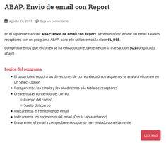 Manual SAP/ABAP para el envío de email con un report