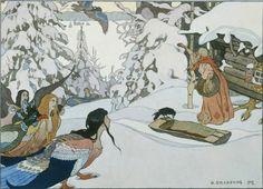 Билибин Иван Яковлевич (Россия, 1876-1942) «Баба-Яга и девы-птицы» 1902