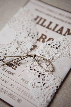 http://weddbook.com/media/1513011 ♥ Lace wedding invitation