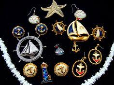 Old jewelry lot  nautical jewelry collection-beach jewelry
