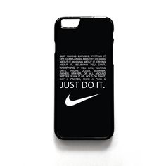 Just Do It Qoutes iPhone 4 4s 5 5s 5c 6 6+, Samsung, HTC M7 M8 M9 #nike #just #do #it #quotes #iphone #samsung #htc #ebay