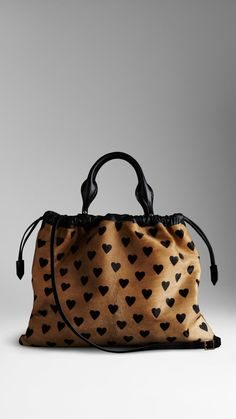 The Big Crush in Heart Print Calfskin | Burberry