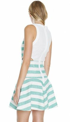 Blanket Cut Out Dress - Dresses | Shop | Tibi