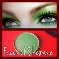 The Faces of Shelmone's Mineral Eye Shadow colors can make your eyes look just as beautiful as this model... Love the GREEN!  Question:  How do you apply your eye shadow?  If you can get the same effect with Minerals, why use the harsh eye shadows? Our consultants teach at The Faces of Shelmone' Cosmetics about how to preserve your skin...Look beautiful today for tomorrow!! Our Products were formulated by top chemist & formulator just for you and the preservation of your skin!
