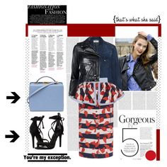 """Confident."" by zeljkaa ❤ liked on Polyvore featuring Oris, Yves Saint Laurent, Johanna Ortiz, R13, Schutz and Mark Cross"