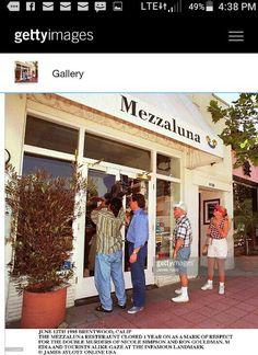 Mezzaluna Restaurant in Brentwood Ronald Goldman, Oj Simpson, American Crime Story, World Geography, True Crime, Pergola, Houses, Outdoor Structures, Restaurant