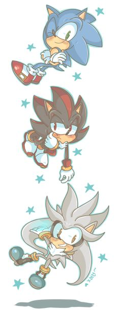 SSS le hedgehogs by chibiirose on DeviantArt
