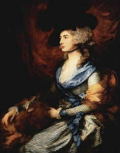 Portrait of actress Mrs. Sarah Siddons (1755-1831) painted by Thomas Gainsborough.