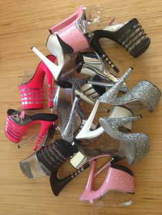 """someday, I will have """"too many"""" stripper heels Sexy High Heels, High Heels Boots, Extreme High Heels, Platform High Heels, Heeled Boots, Shoes Heels, Hot Shoes, Crazy Shoes, Me Too Shoes"""