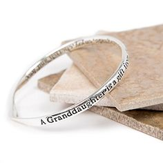 Silver Plated Message Bangle-A Granddaughter is a gift from above Lovethelinks http://www.amazon.co.uk/dp/B00OYTMLYG/ref=cm_sw_r_pi_dp_1v6Yvb0MCG9SZ