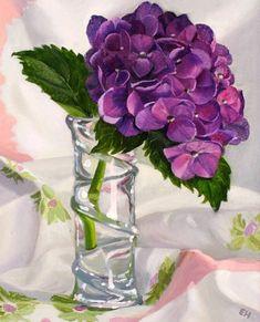 Ellen Hutchinson Hydrangea 2007 - still life quick heart