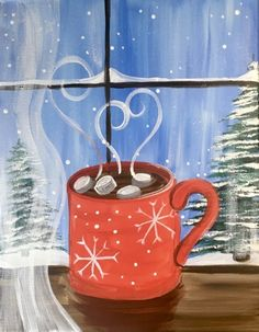 Easy Christmas Paintings - Step By Step Painting With Tracie Kiernan