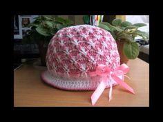 Gorros en crocheth on pinterest tejido ganchillo and - Como hacer flores de ganchillo ...
