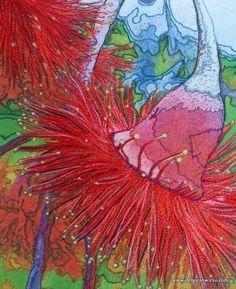 OK Silver Princess Thread Painting - Deborah Wirsu: Free Motion Embroidery, Machine Embroidery Patterns, Free Motion Quilting, Embroidery Applique, Art Quilting, Thread Art, Thread Painting, Fabric Painting, Fabric Art