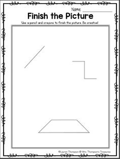 Finish the Picture - Get Creative! | Classroom Freebies | Bloglovin'
