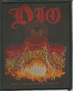 DIO Last In Line Woven Patch Sew On Official Band Merch