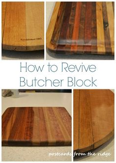 Postcards from the Ridge: How to revive butcher block