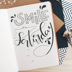 Bullet journal quote page, unique lettering, hand lettering. | @mydearbujo