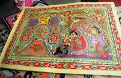 Craft: Madhubani from Bihar. Kohabar is the ritualistic painting done by married women. Before a wedding, married women from the village get together to make this painting. It signifies fertility, good health and prosperity.