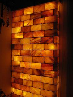 Wall made of salt blocks