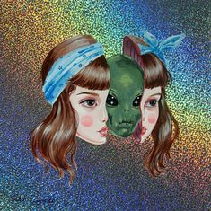 Julie Filipenko #art #painting #alien