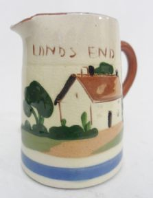 Vintage Royal Watcombe Torquay Pottery Devon Motto Ware Cream Jug Fresh from the Cow Lands End £10 #FollowVintage