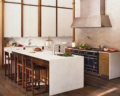 Moderne küchengestaltung ~ Moderne küchengestaltung der wände holz trennwand offene