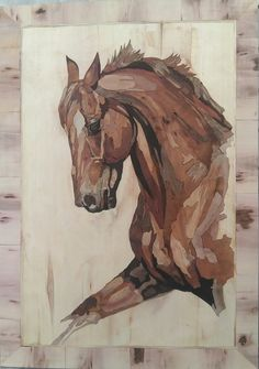 Wood Carving Art, Wood Art, Animal Drawings, Art Drawings, Intarsia Woodworking, Horse Art, Wood Sculpture, Painting On Wood, Art Pictures