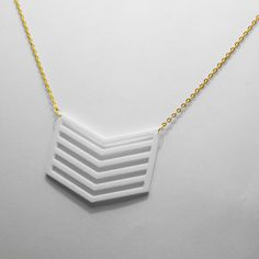 3D Printed Chevron Necklace by BennysHouse on Etsy, $30.00.Join the 3D Printing Conversation: http://www.fuelyourproductdesign.com/