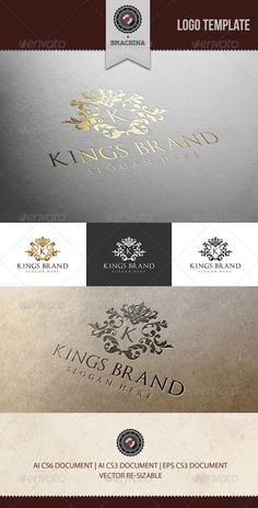 Kings Brand Logo Template #GraphicRiver Kings Brand it was inspired from the old classical and ornamented brands. This Premium logo its ideal for Elite brands like Golf, Nautical, classy invitations, weddings, formal proposals, luxury industry like hotels, fashion clothes, perfumes, or any other classy business you can think of. ::: Overview::: Color B&W Negative 100% Editable 100% Re-sizable 100% vectors The ZIP archive contains: 1 .AI File (CS6) 1 .AI File (CS3) 1 .EPS File (10) 1 .PDF…