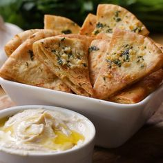 Garlic Parmesan And Herb Pita Chips by Tasty