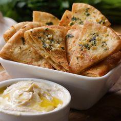 Garlic Parmesan And Herb Pita Chips by Tasty