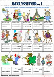 Present Perfect Worksheets
