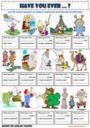 Present Perfect Worksheets