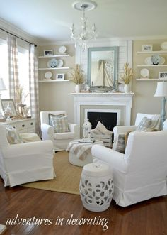 "Living Room Shabby Chic ""Total Perfection"" I would live in"